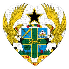Coat of Arms of Ghana Jigsaw Puzzle (Heart)