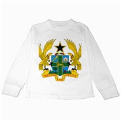 Coat of Arms of Ghana Kids Long Sleeve T-Shirts