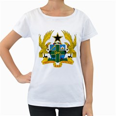 Coat of Arms of Ghana Women s Loose-Fit T-Shirt (White)