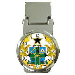 Coat of Arms of Ghana Money Clip Watches