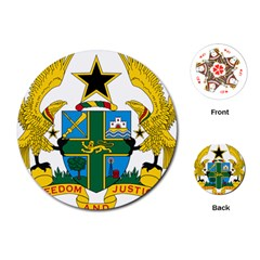 Coat of Arms of Ghana Playing Cards (Round)