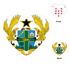 Coat of Arms of Ghana Playing Cards (Heart)