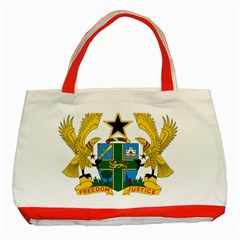 Coat of Arms of Ghana Classic Tote Bag (Red)