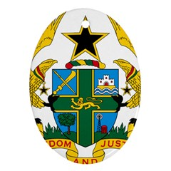 Coat of Arms of Ghana Oval Ornament (Two Sides)