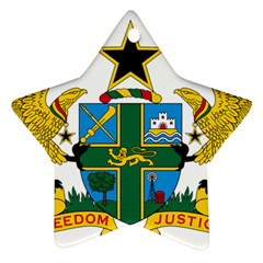 Coat of Arms of Ghana Star Ornament (Two Sides)