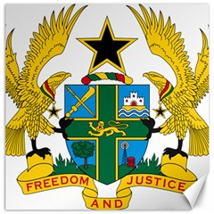 Coat of Arms of Ghana Canvas 12  x 12