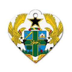 Coat of Arms of Ghana Dog Tag Heart (Two Sides)