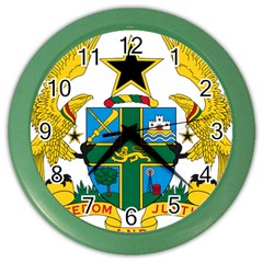 Coat of Arms of Ghana Color Wall Clocks