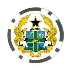 Coat of Arms of Ghana Poker Chip Card Guard