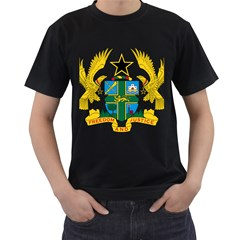Coat of Arms of Ghana Men s T-Shirt (Black)