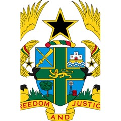 Coat of Arms of Ghana 5.5  x 8.5  Notebooks