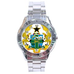 Coat of Arms of Ghana Stainless Steel Analogue Watch