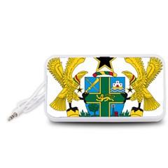 Coat of Arms of Ghana Portable Speaker (White)