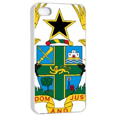 Coat of Arms of Ghana Apple iPhone 4/4s Seamless Case (White)