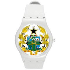 Coat of Arms of Ghana Round Plastic Sport Watch (M)