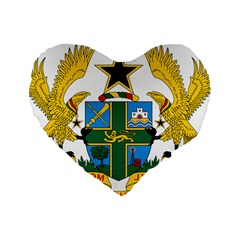 Coat of Arms of Ghana Standard 16  Premium Heart Shape Cushions