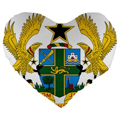 Coat of Arms of Ghana Large 19  Premium Heart Shape Cushions