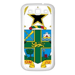 Coat of Arms of Ghana Samsung Galaxy S3 Back Case (White)