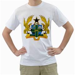 Coat of Arms of Ghana Men s T-Shirt (White)