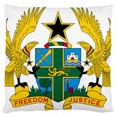 Coat of Arms of Ghana Large Flano Cushion Case (One Side)