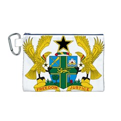 Coat of Arms of Ghana Canvas Cosmetic Bag (M)