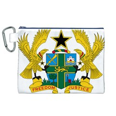 Coat of Arms of Ghana Canvas Cosmetic Bag (XL)