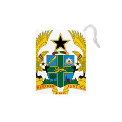Coat of Arms of Ghana Drawstring Pouches (XS)