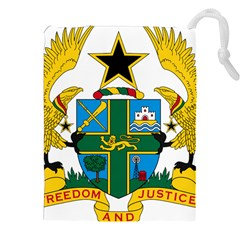 Coat of Arms of Ghana Drawstring Pouches (XXL)
