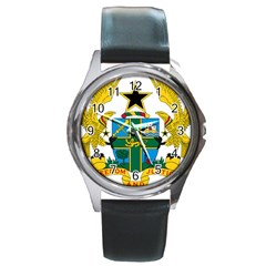 Coat of Arms of Ghana Round Metal Watch