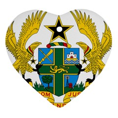 Coat of Arms of Ghana Ornament (Heart)