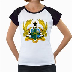 Coat of Arms of Ghana Women s Cap Sleeve T