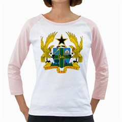 Coat of Arms of Ghana Girly Raglans