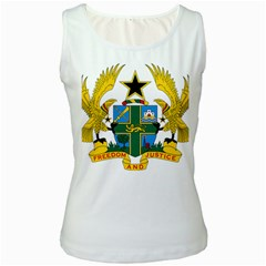 Coat of Arms of Ghana Women s White Tank Top