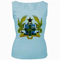 Coat of Arms of Ghana Women s Baby Blue Tank Top