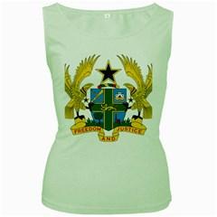 Coat of Arms of Ghana Women s Green Tank Top