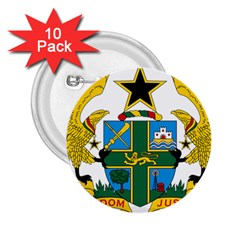 Coat of Arms of Ghana 2.25  Buttons (10 pack)