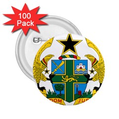 Coat of Arms of Ghana 2.25  Buttons (100 pack)