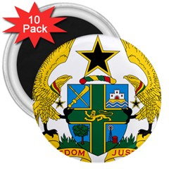 Coat of Arms of Ghana 3  Magnets (10 pack)