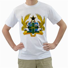 Coat of Arms of Ghana Men s T-Shirt (White) (Two Sided)