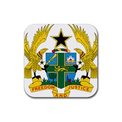 Coat of Arms of Ghana Rubber Square Coaster (4 pack)
