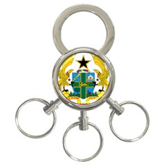 Coat of Arms of Ghana 3-Ring Key Chains