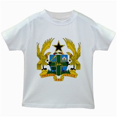 Coat of Arms of Ghana Kids White T-Shirts