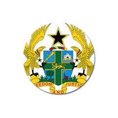 Coat of Arms of Ghana Magnet 3  (Round)