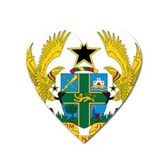 Coat of Arms of Ghana Heart Magnet