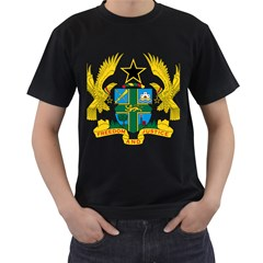 Coat of Arms of Ghana Men s T-Shirt (Black) (Two Sided)