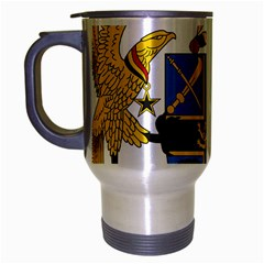 Coat of Arms of Ghana Travel Mug (Silver Gray)