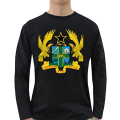 Coat of Arms of Ghana Long Sleeve Dark T-Shirts