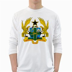 Coat of Arms of Ghana White Long Sleeve T-Shirts