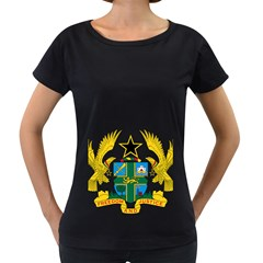 Coat of Arms of Ghana Women s Loose-Fit T-Shirt (Black)