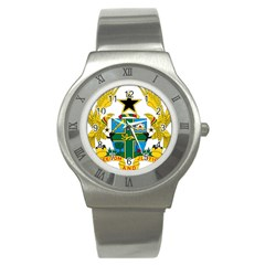Coat of Arms of Ghana Stainless Steel Watch